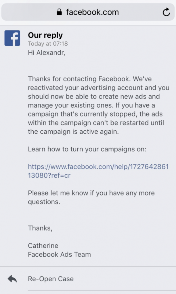 How to reactivate Facebook ad account – The King of Scaling